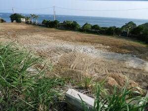 廃校になった大神小中学校の校舎は昨年10月末崩され、跡地は更地になっている