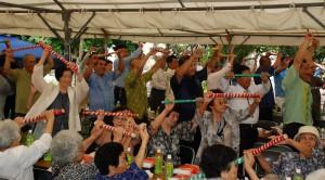 平良隆市議会議長は、在宅介護支援の一翼を「ぷくんみ」が担い、年寄りが安心して住める社会にしてほしいと祈念した。