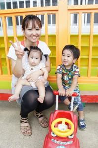砂川大翔(はると)くん(2つ)榎玲菜(えれな)ちゃん(10カ月)お母さん・さおりさん